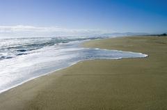 France, Aude, Les Portes du Roussillion, View of beach with sea Stock Photos