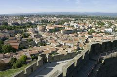 France, Aude, Carcassonne, View of city Stock Photos
