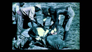 Stock Video Footage of Skinning out rhino, Tanzania 1937
