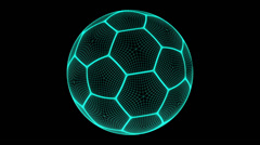 Soccer ball. Looping. Stock Footage