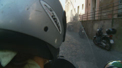 Lady on a scooter in Rome - 4 (slomo) Stock Footage