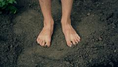 Feet on the Ground Stock Footage
