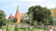 Corner Arsenalnaya Tower of Kremlin Stock Footage