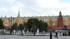 Manezhnaya Square near Moscow Kremlin Stock Footage