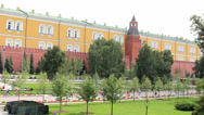 Stock Video Footage of Alexander Gardens at Kremlin Wall