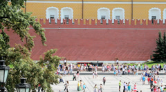 Tomb of Unknown Soldier at Kremlin Wall Stock Footage