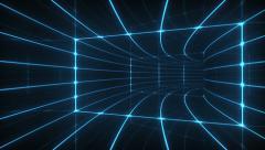 Digital tunnel Stock Footage