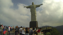 4K UHD Christ the Redeemer on top of Corcovado mountain Rio de Janeiro Brazil Stock Footage