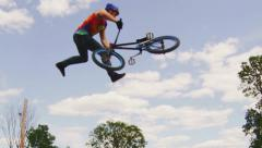 Slow Motion BMX Tail Whip - stock footage