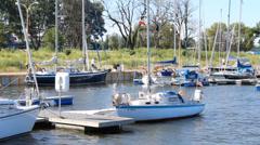 Small Marina Seaport - stock footage