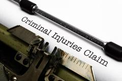 Criminal injury claim Stock Photos