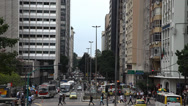 Stock Video Footage of Downtown streets and avenida of Rio De Janeiro, Brazil
