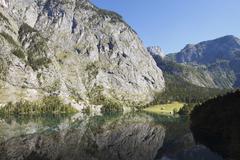 Germany, Bavaria, Upper Bavaria, Fischunkel-Alm, View of Berchtesgaden National Stock Photos
