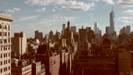 Stock Video Footage of downtown NYC