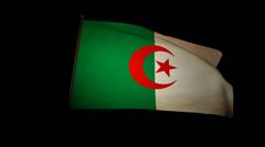 Flag Algeria 01 Stock Footage