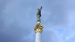 Woman statue timelapse. Sign of independence, liberty, freedom, click for HD Stock Footage