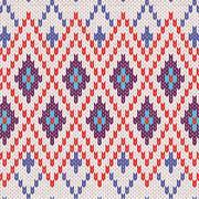 Seamless Pattern. Knit Woolen Trendy Ornament Texture Stock Illustration