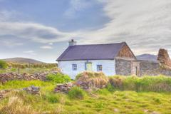 Ireland, County Kerry, View of house - stock photo