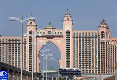 Dubai, United Arab emirates, View of hotel atlantis at the palm jumeirah Stock Photos