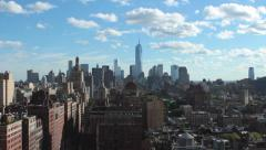 Downtown NY skyline Stock Footage