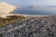 Stock Photo of Croatia, Adria, Dalmatia, View of pag island with rucica bay