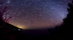 Milky Way with Star Trails and Persistant Geminid Meteors On Dolly Stock Footage