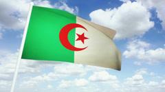 Flag Algeria 02 Stock Footage