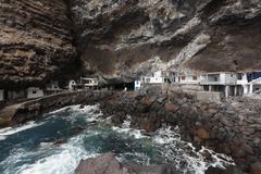 Spain, Canary Islands, La Palma, View of poris de candelaria near tijarafe Stock Photos