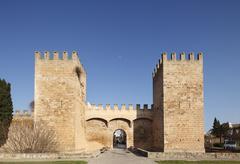 Porta de Sant Sebastia, Alcudia, Majorca, Balearic Islands, Spain, View of Stock Photos