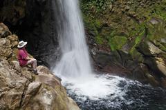 Costa Rica, Guanacaste, Rincon de la Vieja, Hacienda Guachipelin, View of - stock photo