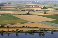 Germany, Lower Bavaria, View of danube river near bogen - stock photo