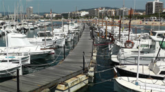 Palamos Costa Brava Spain 1 port Stock Footage