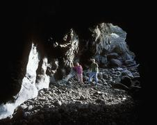 Stock Photo of Spain, Canary Islands, el Hierro, View of cave charco azul