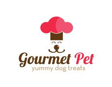 Gourmet Pet Treats Logo - stock illustration