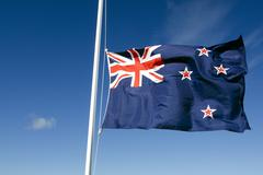 Maailman kansalliset liput - Uusi-Seelanti Kuvituskuvat