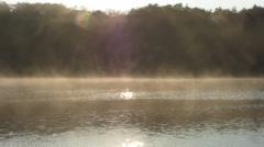 Misty Sparkling Lake Stock Footage