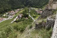 Stock Photo of Austria, Lower Austria, Wachau, Kremstal, Senftenberg, View of village from