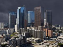 Storm sky los angeles downtown Stock Photos