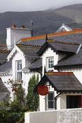 United Kingdom, Northern Ireland, County Down, Newcastle, View of houses in town Stock Photos