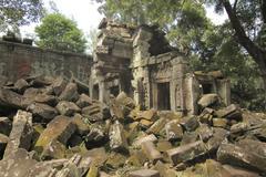 Cambodia Temple - Angkor Wat Stock Photos