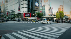 Timelapse of Shibuya Crossing, Stock Footage