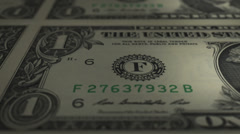 Currency-US-01Bill 01 30fps Stock Footage