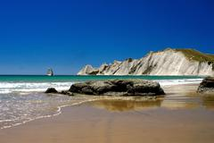 cape kidnappers new zealand - stock photo