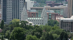 Salt Lake City Mormon Temple summer haze HD 8656 Stock Footage