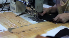 Leather Factory Stock Footage