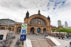 Frankfurt main station, Germany Stock Photos