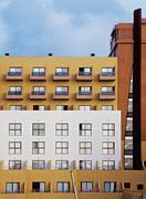 Germany, Berlin, Facade of apartment building Stock Photos