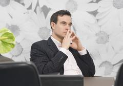 Business man looking away Stock Photos