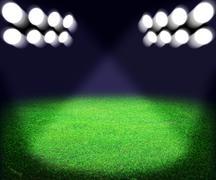 Stadium spotlight background Stock Illustration