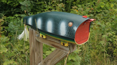 Fishing Lure mailbox. Stock Footage